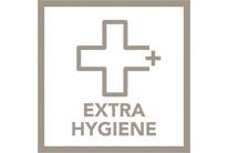 Funkcia Extra hygieny pre 99,99% výsledky bez baktérií